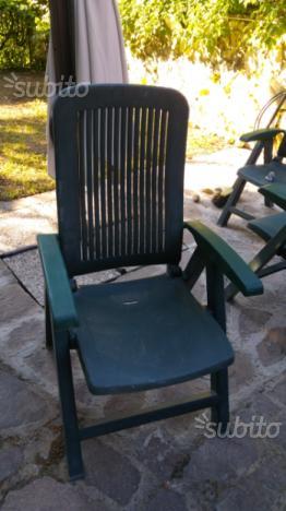 2 sedie da esterno con cuscini