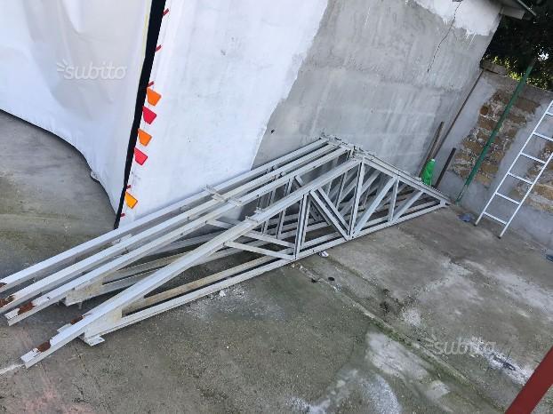 Gazebo in ferro doppio tetto 3x3 posot class for Capriate in ferro