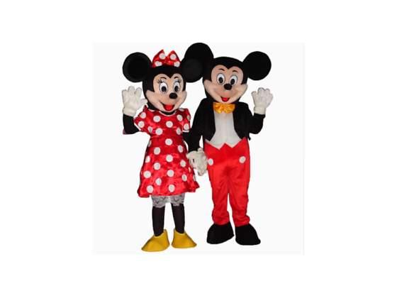 Noleggio Mascotte di Topolino e Minnie