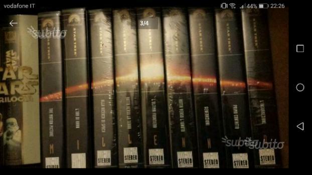 Collezione completa vhs Star Trek Star Wars
