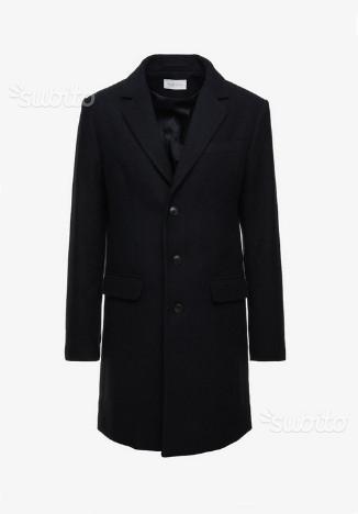 Cappotto uomo blu scuro, taglia 46, nuovo
