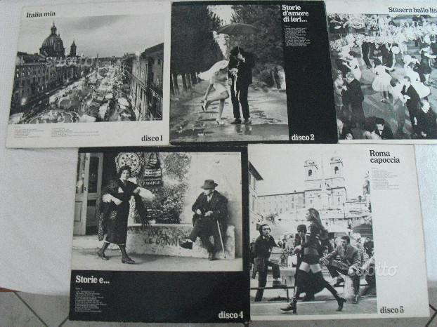 N.5 dischi LE BELLE CANZONI DI CASA NOSTRA vinile