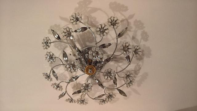 Plafoniere Cristallo Boemia : Plafoniera cristallo di murano foglie posot class