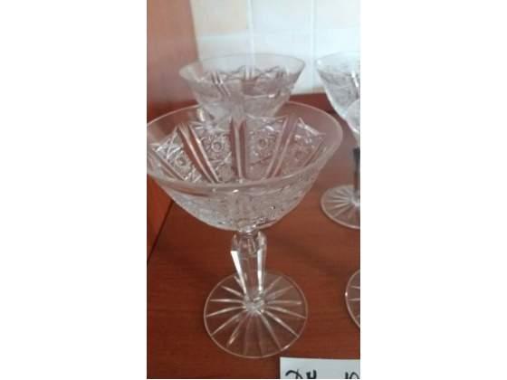 4 bicchieri in cristallo Bohemia
