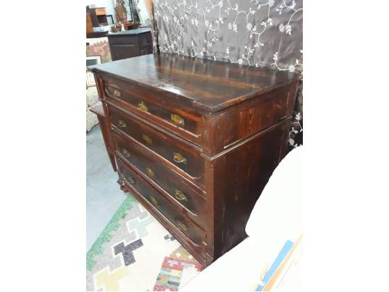 Comò cassettone in legno massello cm60x117x105 prezzo 220