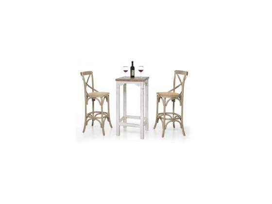 Composizione tavolino alto bar e 2 sgabelli