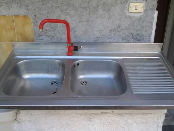 Lavabo a due pozzetti per cucina