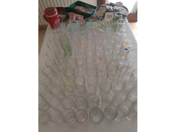 Lotto 155 Bicchieri cilindrici vetro Bar Aperitivo Coca Cola