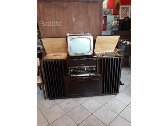 Mobile stereo anni 40 con telecomando
