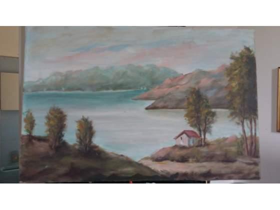 Olio su tela di pittore famoso non firmata