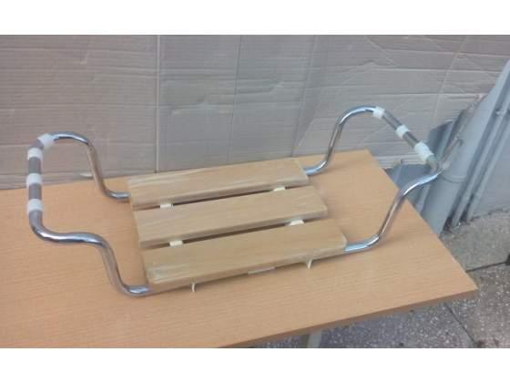 Sedile per vasca da bagno regolabile, seduta in legno