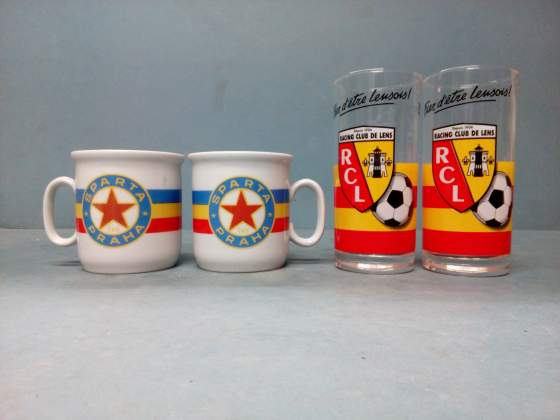 Set 4 Bicchieri - Vintage - Football Club Europa -