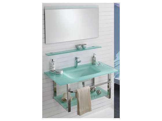 Set bagno completo in vetro