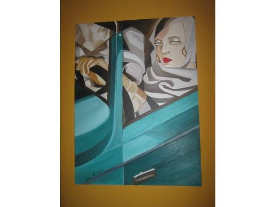 Tamara de Lempicka copia ad olio su tela