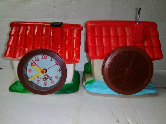2 gadget mulino bianco anni 80 - orologio e radio