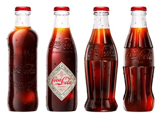 Coca cola 125 anni bottiglie in vetro nuove
