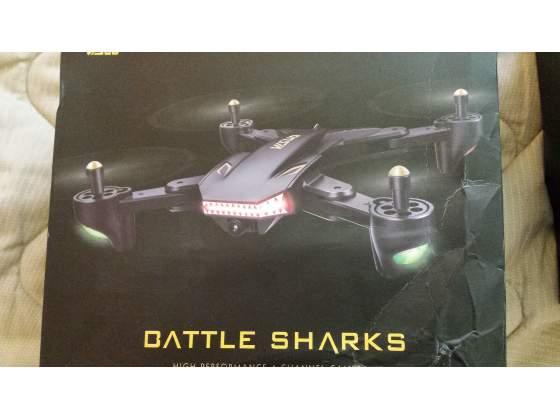Drone visuo battle sharks 2 mpx 3 batterie nuovo