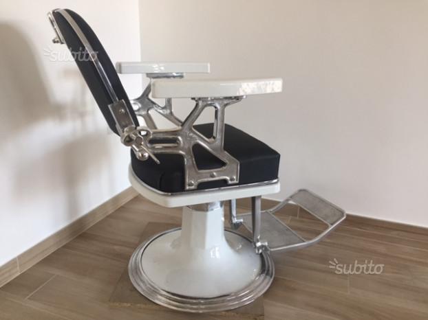 Poltrona da barbiere vintage F.elli Zerbini