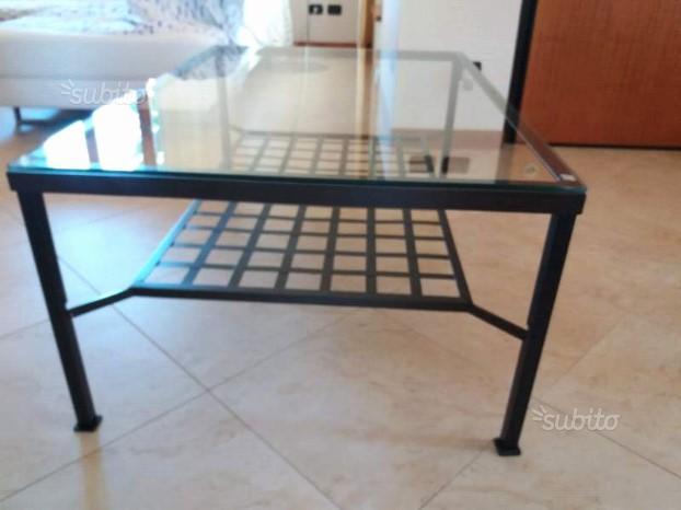 Tavolino Ferro Battuto Ikea.Tavolino Ovale Vetro Ferro Posot Class