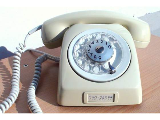 Telefono norvegese disco TELI SIEMENS bianco avorio SIP