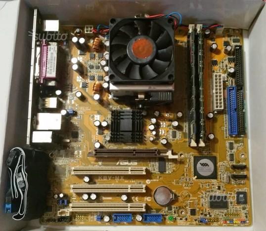 Blocco PC Asus + CPU AMD Athlon GB RAM