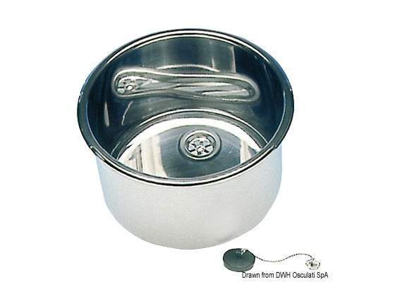 Lavello inox tondo 420 x 180 mm