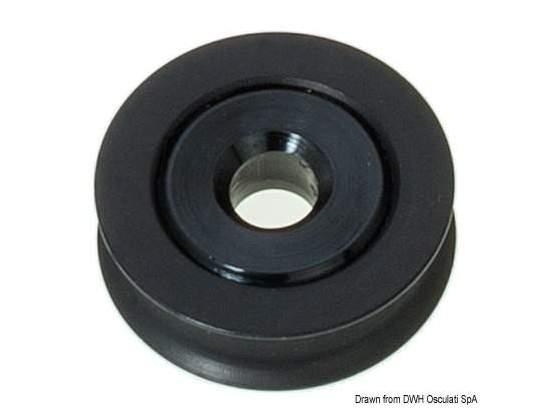 Puleggia in alluminio mm 34 per cime 5 mm