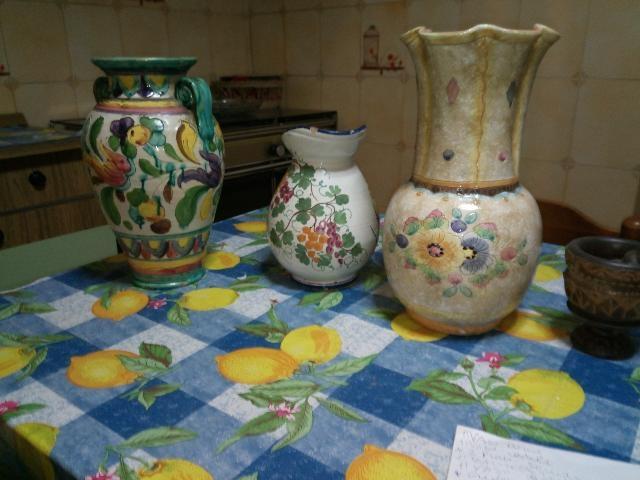 Capodimonte tris vasi posot class for Vasi capodimonte