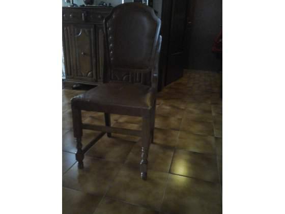 4 sedie in legno per tavolo da pranzo