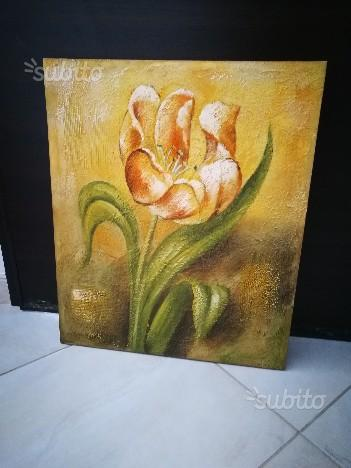 Set 3 quadri dipinti su tela