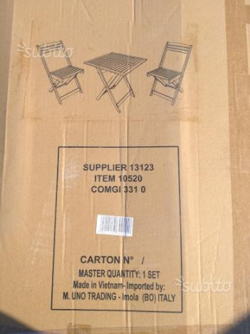 Set tavolo con due sedie
