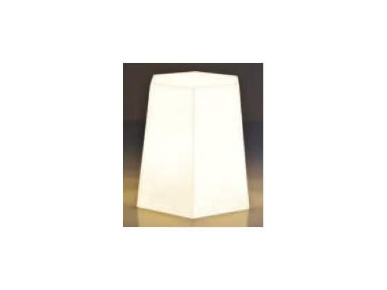 Sgabello design in plastica nero o bianco