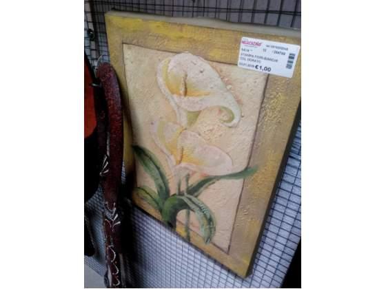 Stampa fiori bianchi col dorato