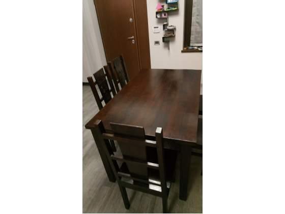 Tavolo con 6 sedie etnico