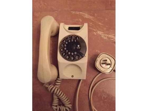 Telefono da parete vintage colore bianco