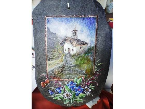 Vendo 3 dipinti ad olio su ardesia