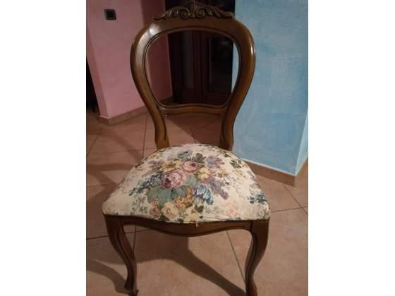 4 sedie in legno stile shabby