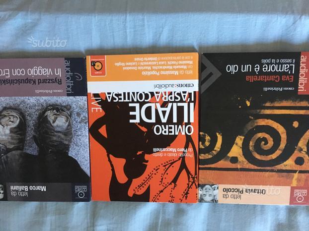Cd audiolibri Erodoto Iliade cantarella Grecia