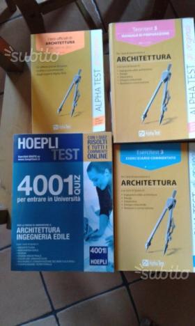 4 libri test architettura ingegneria design