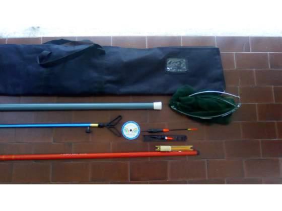 Canna da pesca trota piu accessori vari