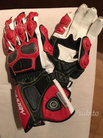 Suomy guanti nuovi in pelle per moto