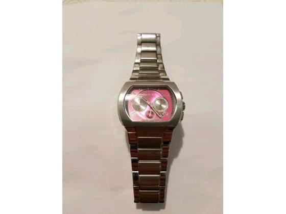 Orologio da donna con quadrante rosa,marchio Breil.