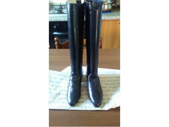 Stivali donna vera pelle colore nero n 38 e mezzo