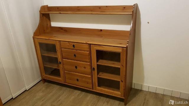 Credenza Ikea Leksvik Misure : Vetrinetta ikea markor in legno posot class