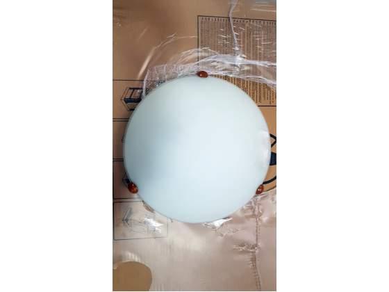 Plafoniera in vetro satinato da soffitto