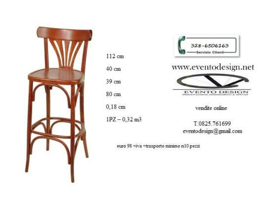Sgabelli e sedie bistrot in faggio