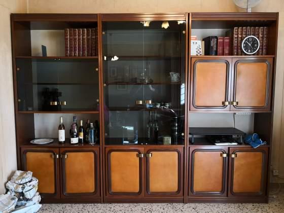 Vetrina credenza mobile sala chippendale in shabby posot for Mobile sala pranzo