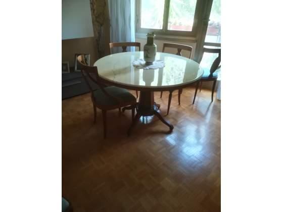 Tavolo Salone tondo in marmo
