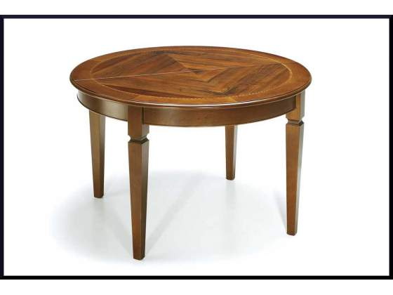 Tavolo rotondo classico apribile allungabile