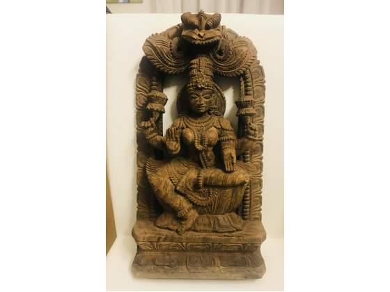 Statua in legno del XVIII secolo della dea Kali originale